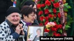 Церемония прощания с погибшими при нападении на политехнический колледж в Керчи