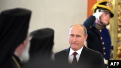 Russian President Vladimir Putin at the Kremlin in Moscow on July 25