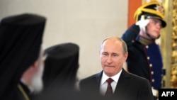 Володимир Путін під час зустрічі з православними лідерами в Кремлі, Москва, 25 липня 2013 року