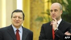 Претседателот на ЕК Баросо и Премиерот на Шведкска Рајнфелт