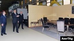 İlham Əliyev Abşeronda mebel fabrikində