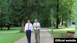 Premierul Vlad Filat cu Igor Smirnov la Bad Reichenhall, în Germania la începutul acestei luni