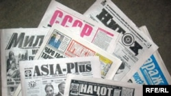 Tajik newspapers, Dushanbe, 25Dec2008