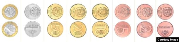 Беларускія манэты ўзору 2009 г. Нацыянальны банк Рэспублікі Беларусі