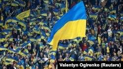 Болельщики сборной Украины по футболу, архивное фото