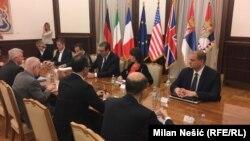 Sastanaka predsednika Srbije sa ambasadorima EU i zemalja Kvinte
