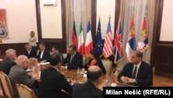 Sastanak predsednika Srbije Aleksandra Vučića i ambasadora Kvinte i EU