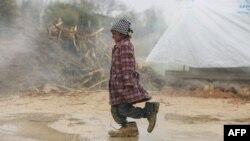 Ребенок в лагере для беженцев в Сирии.