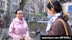 Լրագրող Մարինե Խառատյանը զրուցում է «Ազատության» հետ, Երևան, 21-ը մարտի, 2020թ.