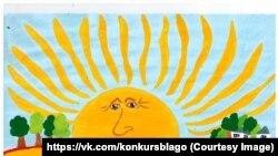 Уладзімір Пуцін у выглядзе сонца. Такім бачыць прэзыдэнта 7-гадовая Віталіна Грыгаранец.