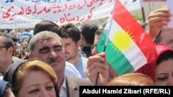 تظاهرة شكر كردية أمام القنصيلية الأميركية في أربيل