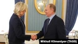 Владимир Путин и Марин Ле Пен. Москва, 24 марта 2017 года