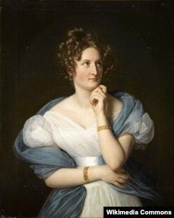 Луи Эрсан. Портрет Дельфины де Жирарден. 1824