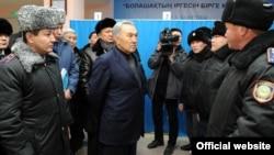 Kazakh Nursultan Nazarbaev visited the region after the unrest