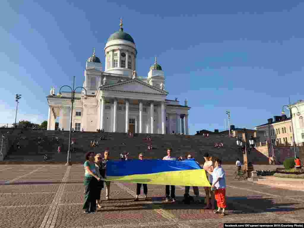 30 липня українці, які проживають у Фінляндії, та їхні друзіфіниразом із Товариством українців у Фінляндії передали свої привітання та побажання