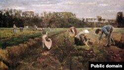 Макс Лібэрман, «Капаньне бульбы» (1875)