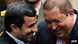 Махмуд Ахмадінеджад з Уго Чавесом, січень 2012 року