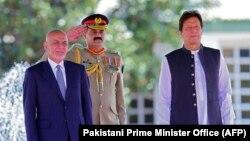 Presidenti i Afganistanit, Ashraf Ghani dhe kryeministri i Pakistanit, Imran Khan
