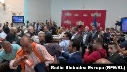 Nasilje u makedonskoj skupštini