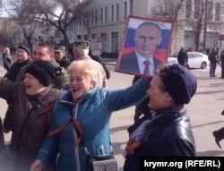 Річниця окупації Криму, Сімферополь, 16 березня 2015 року