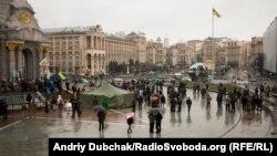 Намет на майдані Незалежності в Києві, 22 лютого 2016 року