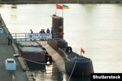 """Подводная лодка ВМС Турции в порту Одессы, во время учений """"Си Бриз"""". 14 июля 2017 года"""