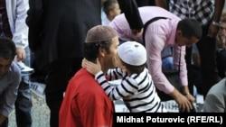 Мусульмане празднуют Ораза-байрам в одной из мечетей Сараева. Босния и Герцеговина, 19 августа 2012 года.