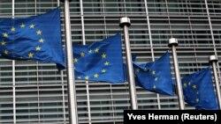 Brüssel, Avropa Birliyinin Bayrağı, arxiv foto