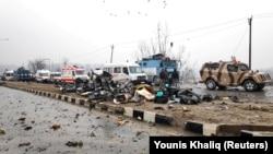 Mesto napada u Kašmiru