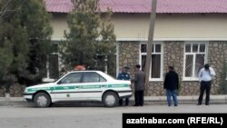 Police have a more visible presence around the Turkmen capital, Ashgabat. (file photo)