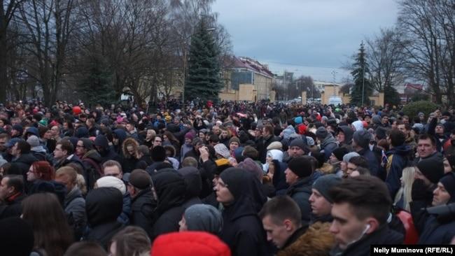Митинг сторонников Алексея Навального в Калининграде, 10 декабря 2017
