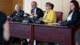 Архивска фотографија: Прес-конференција во Основното јавно обвинителство за случајот Рекет. Обвинителите Љубомир Јовески и Вилма Русковска
