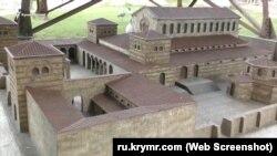 Уваровская базилика в Бахчисарайском парке миниатюр