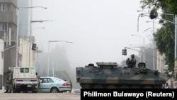 Военная техника на улицах Хараре