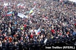 Жалобна хода пам'яті вбитого опозиційного політика Бориса Нємцова. Москва, 1 березня 2015 року