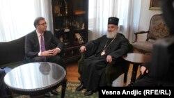 Aleksandar Vučić u razgovoru sa Irinejom u Patrijaršiji, Beograd
