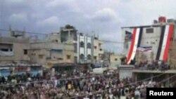 Сегодняшняя демонстрация в городе Ясим неподалеку от Дераа