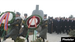 Armenia -- President Serzh Sargsian visits Yerablur. 28Jan., 2012