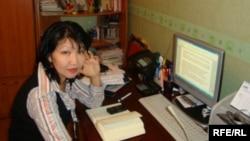 Репортер Азаттыка в Актау Сания Тойкен.