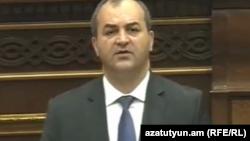 Генеральный прокурор Артур Давтян в парламенте, Ереван, 10 мая 2019 г.