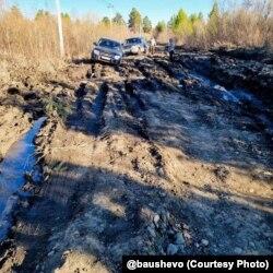 Дорога в Шелеховском районе Иркутской области