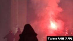 Proteste împotriva măsurilor restrictive în Roma