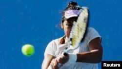 Қазақстан теннисшісі Зарина Дияс Австралия ашық чемпионатында. Мельбурн. 21 қаңтар 2015 жыл.