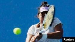 Қазақстан теннисшісі Зарина Дияс Австралия ашық чемпионатында. Мельбурн, 21 қаңтар 2015 жыл.