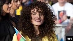 Азербайджанская певица Диляра Кязимова прибыла на открытие конкурса песни Eurovision 2014 в Копенгагене, Дания. 4 мая 2014