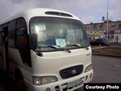 Қарағандыдағы жолаушылар автобусының бірі. Көрнекі сурет