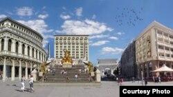 На плоштадот Македонија се предвидени шпански скали.