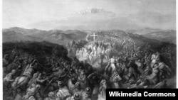 Битва при Аскалоне. Гравюра Гюстава Доре. 1881