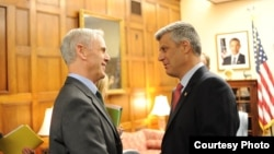 Commerce Secretary John Bryson (left) met with Kosovar Prime Minister Hashim Thaci earlier this year.