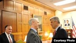 Kryeministri Hashim Thaçi në takim me sekretarin ametikan të Tregtisë, Xhon Brajson